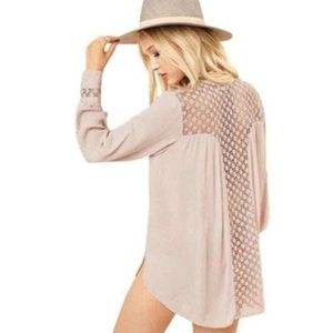 Free People | The Best Button Down Top in Cream